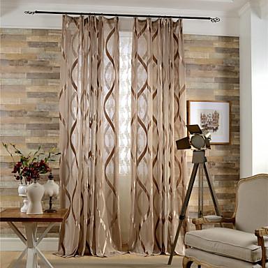 Schlaufen für Gardinenstange Ösen Schlaufen Zweifach gefaltet plissiert zwei Panele Window Treatment Modern Europäisch Mediterran