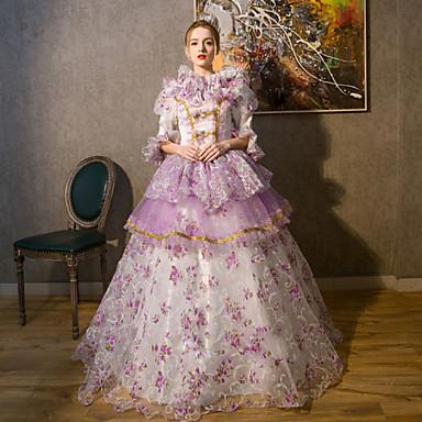 Yksiosainen/Mekot Gothic Lolita Steampunk® Viktoriaaninen Cosplay Lolita-mekot Yhtenäinen Pitkä Pituus Leninki vartenPitsi Pellava