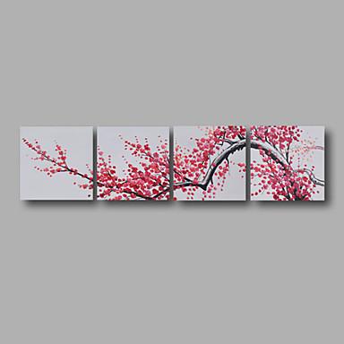 Pintura a Óleo Pintados à mão - Floral / Botânico Modern Tela de pintura