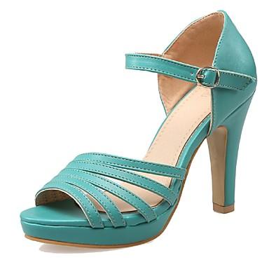 בגדי ריקוד נשים נעליים דמוי עור אביב קיץ עקב עבה פלטפורמה ל חתונה שמלה מסיבה וערב לבן שחור ירוק שקד