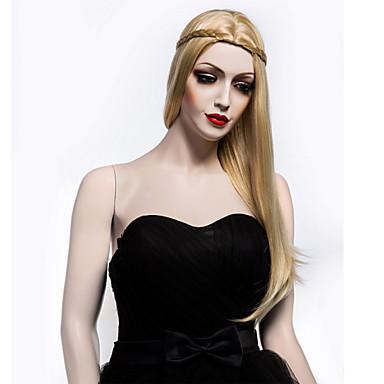 pitkä kesto suorat hiukset european kutoa vaaleat värit hiukset synteettiset peruukki