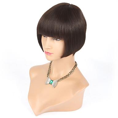 앞머리 없음 레이스 처녀 인간의 머리 짧은 가발 8