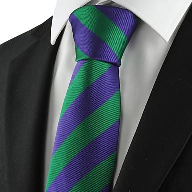 Solmio-Polyesteri,Raidallinen,Vihreä / Purppura
