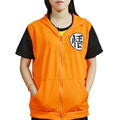Inspirirana Dragon Ball Son Goku Anime Cosplay nošnje Cosplay majica Print Kratkih rukava Kaput Za Muškarci Žene