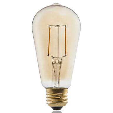 1kpl ≥180 lm E26/E27 LED-hehkulamput ST58 2 ledit COB Koristeltu Lämmin valkoinen AC 220-240V