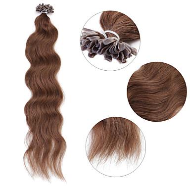 Τούφα/ Άκρη U Επεκτάσεις ανθρώπινα μαλλιών Ανθρώπινη Τρίχα Ίσια 100 νήματα / Πακέτο 50 νήματα / Pack 20 Ίντσες