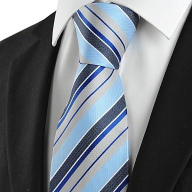 מפוספס ג 'אקארד Mens עניבה צד חג מתנה