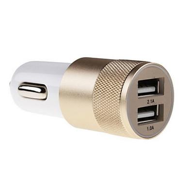 2.1a 1.0a alumiini 2 USB-porttia Universal usb laturi puhelimeen 5 6 6 plus iPad 2 3 4 5