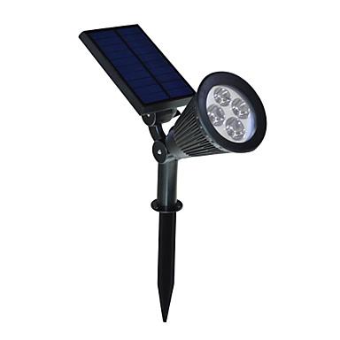 1pc Smart nattlys / Camping utendørs nødlys Hvit Solkraft Vanntett / Justerbar / Lysstyring