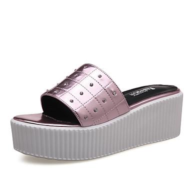 Clog-kengät-Platform-Naisten kengät-Tekonahka-Violetti / Hopea-Puku / Rento-Platform / Creepers
