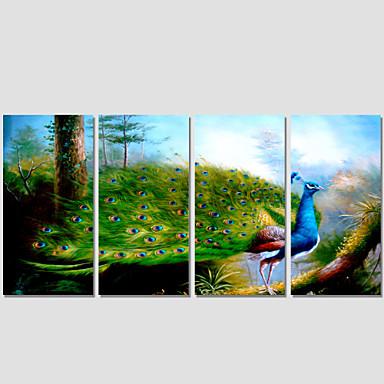 캔버스 인쇄 경치 모던 동물 4판넬 광장 벽 장식 홈 장식