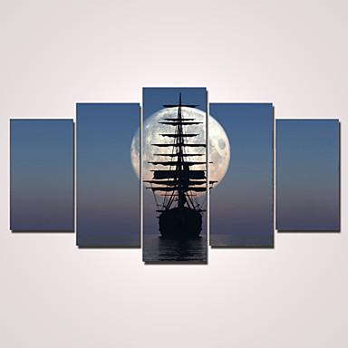 הדפסי בד מתוחים מודרני חמישה פנלים אופקי דקור קיר קישוט הבית