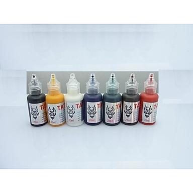 Basekey Inchiostro Del Tatuaggio 7 X 20 Ml Professionale - Multicolore - Nero - Arancione #04918288 Imballaggio Di Marca Nominata