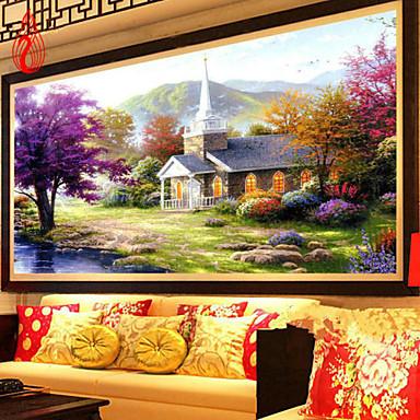 יהלום פסיפס DIY 5D נוף הבית יפה אגם ציור יהלום מלא ערכות תפר צלב עיצוב בית הרקמה