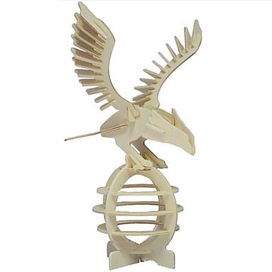 Puslespill 3D-puslespill / Puslespill i tre Byggeklosser DIY leker Eagle Tre Gylden Modell- og byggeleke