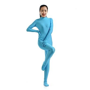 Zentai Drakter Ninja Zentai Cosplay-kostymer Blå Ensfarget Trikot / Heldraktskostymer Kattesuit Zentai Spandex Elastan Herre Dame