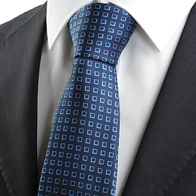 עניבה-משובץ (רשת)(כחול,פוליאסטר)
