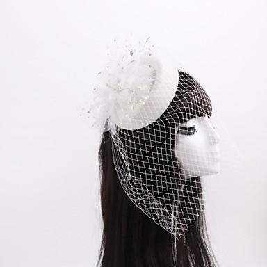 tulle imitacija bisera mreškasta mreža fascinators headpiece elegantan stil