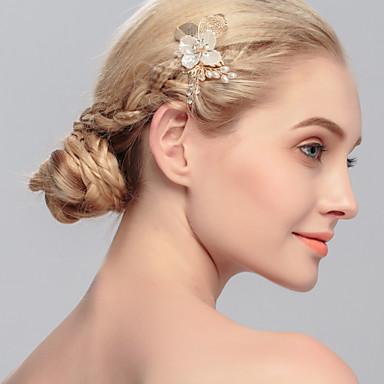 Imitação de Pérola Pentes de cabelo com 1 Casamento / Ocasião Especial / Casual Capacete