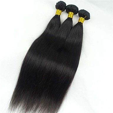 1 Piece Straight Human Hair Weaves Peruvian Texture 50 8-26 Human Hair Extensions