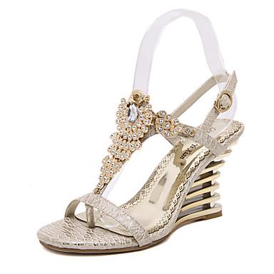 בגדי ריקוד נשים נעליים סינטתי קיץ פלטפורמה עקב טריז ל מסיבה וערב שמלה ורוד שקד