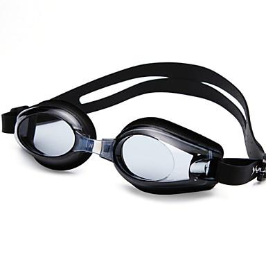 Svømmebriller Anti-Tåke Justerbar Størrelse Anti-UV Vanntett silica Gel PC Svart Blå Gennemsigtig