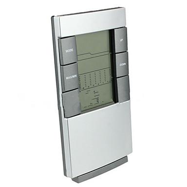 Innen elektronisches Thermometer mit der Zeit leichte Wetterprognose Wecker zurück