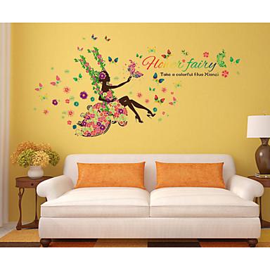 Dekorative Wand Sticker - Menschen Wandaufkleber Stillleben / Blumen Wohnzimmer / Schlafzimmer / Badezimmer