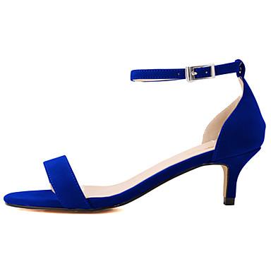 Damen Schuhe Stoff Sommer Stöckelabsatz für Normal Büro & Karriere Kleid Fuchsia Rot Grün Blau Mandelfarben