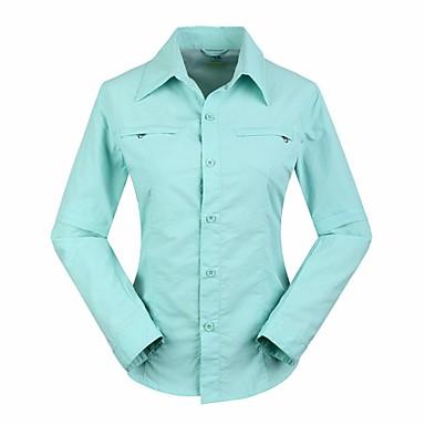 Mulheres Camisa de Trilha Ao ar livre Prova-de-Água Secagem Rápida Resistente Raios Ultravioleta Vestível Respirável Blusas Acampar e