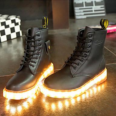 Femme Mi Décontracté Bottes Chaussures Homme 04960417 Noir Talon Eté mollet Printemps Polyuréthane Hiver pour Plat Automne vrvqxwOz
