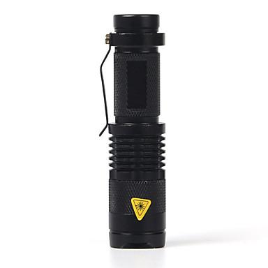 SK68 LED Lommelygter LED 2000 lm 1 Zoombare Svart Camping / Vandring / Grotte Udforskning / Vanntett