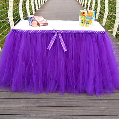 Table Runners-Polyesteri-Puutarha-teema / Perhos-teema / Satu-teema-Syreeni Yleinen 1