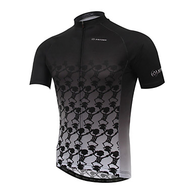 704b50e86 XINTOWN Men s Short Sleeve Cycling Jersey Gradient Bike Jersey Top  Breathable Quick Dry Ultraviolet Resistant Sports