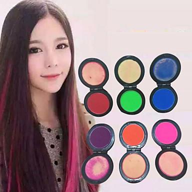 6 farver midlertidig hår kridt pulver pastel hårfarve farvestof bløde pasteller salon party julen DIY