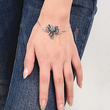 abordables Bracelet-Manchettes Bracelets Eléphant Animal Européen Style Folk Bracelet Bijoux Argent pour Quotidien Décontracté