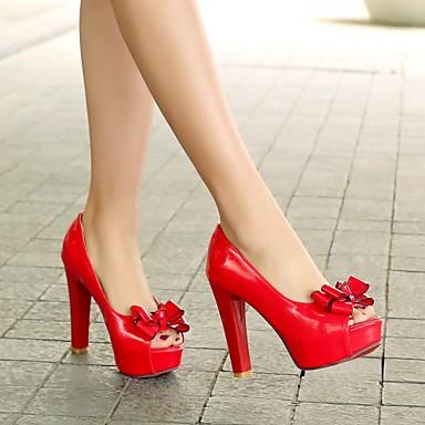 Shoes For Women Heel Heels Peep Toe Platform Sandals Heels Outdoor Dress Casual Black Red White