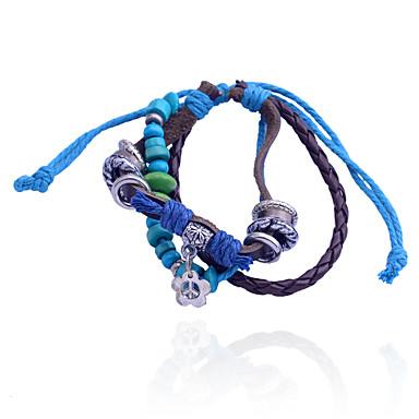 Damen Wickelarmbänder Leder Schmuck Party Alltag Modeschmuck Blau