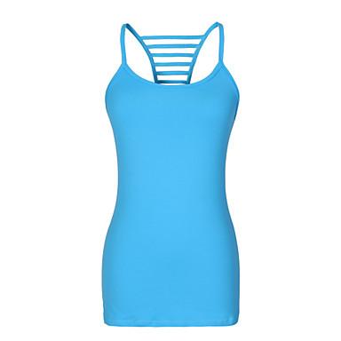 Mulheres Sem Manga Corrida Blusas Secagem Rápida Vestível Respirável Verão Moda Esportiva Ioga Elastano Náilon Chinês