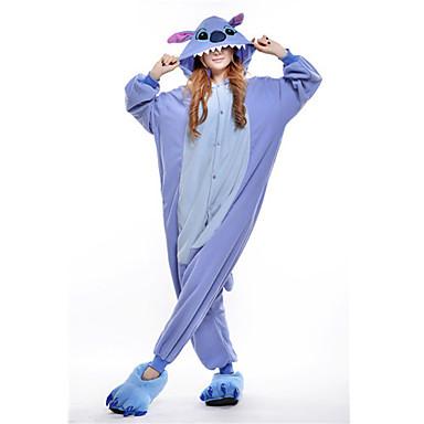 Взрослые Пижамы кигуруми Monster Синий монстр Цельные пижамы Флис Синий  Косплей Для Муж. и жен 1f3e9a90d811e