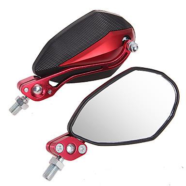 보편적 인 오토바이 오토바이 블랙 + 레드 1 쌍의 거울 10mm의 8mm
