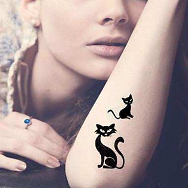 Tatuagens Adesivas Séries Animal Série dos desenhos animados Desenhos Animados Feminino Masculino Adulto Adolescente Tatuagem Adesiva