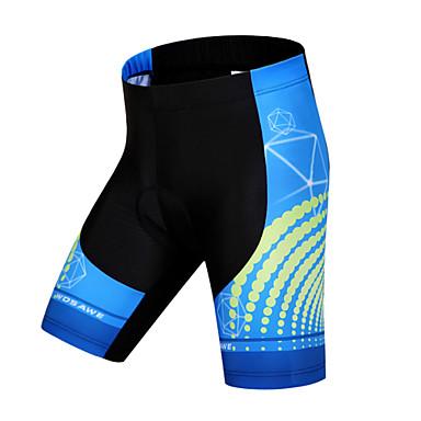 WOSAWE Bermudas Acolchoadas Para Ciclismo Unisexo Moto Shorts Shorts Acolchoados Calças Roupa de Ciclismo Secagem Rápida Design Anatômico