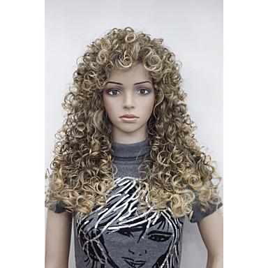Synthetische Perücken Locken Synthetische Haare Perücke Damen Kappenlos