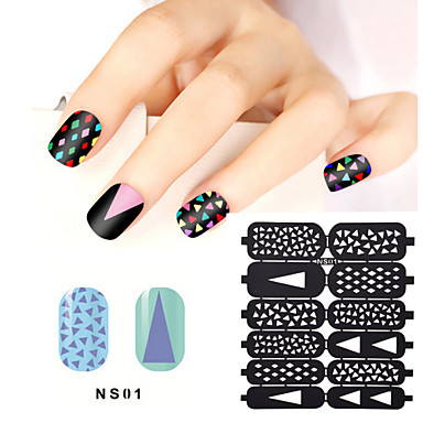 1sheet Hollow Nail Art Stamping Template Stickers Reusable Stamp Stencil Guide DIY Decal Decoration Tools21