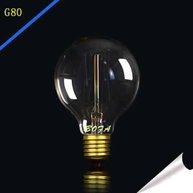 1pç 25W 40W E27 E26/E27 E26 G80 Branco Quente 2300 K Incandescente Vintage Edison Light Bulb 220V 85-265V