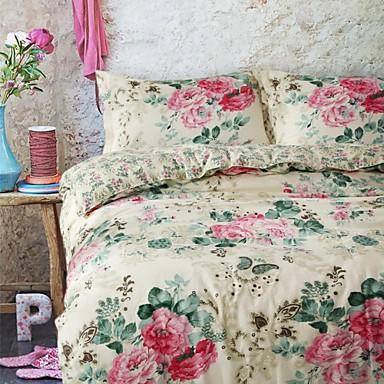Cvijetan Pamuk / Polyester 4 komada Poplun Cover Sets