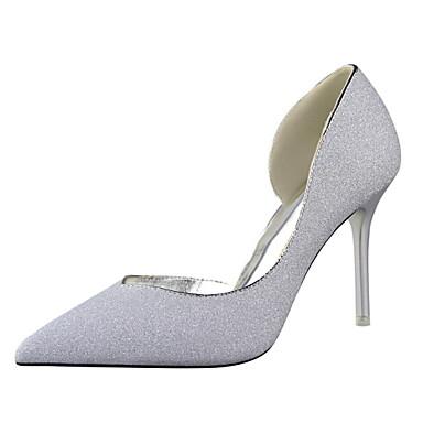 בלרינה\עקבים-נשים-נעלי חתונה-עקבים-חתונה / שמלה / מסיבה וערב-שחור / כחול / כסוף / זהב / בורגונדי