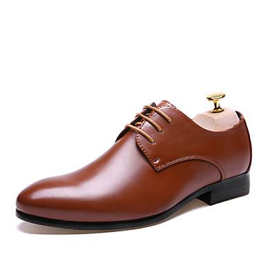 גברים נעליים עור אביב קיץ נעליים פורמלית נעלי אוקספורד שרוכים ל חתונה קזו'אל מסיבה וערב שחור חום
