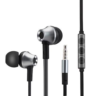 metalli basso kuuloke stereokuulokkeet kuulokkeet mikrofoni iphone Samsung Xiaomi mp3-soitin